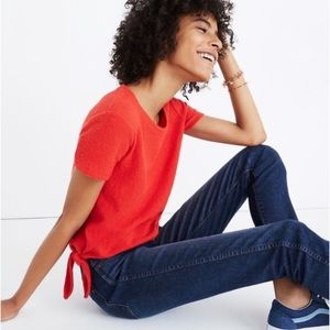 MADEWELL Red Verse Tie-Back Top